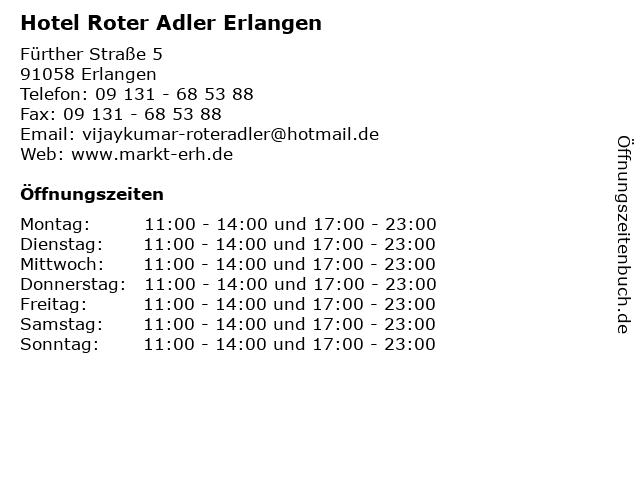 Hotel Roter Adler Erlangen in Erlangen: Adresse und Öffnungszeiten
