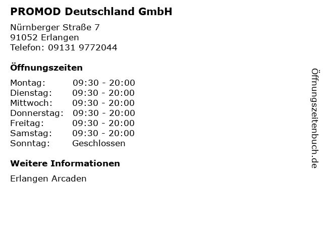 PROMOD Deutschland GmbH in Erlangen: Adresse und Öffnungszeiten