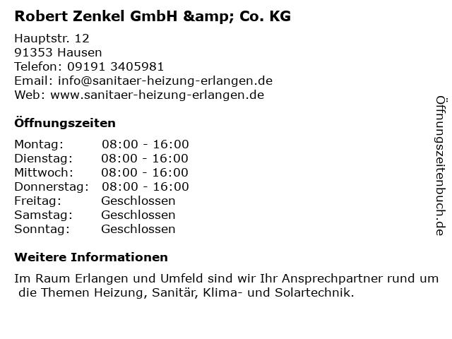 Robert Zenkel GmbH & Co. KG in Erlangen: Adresse und Öffnungszeiten