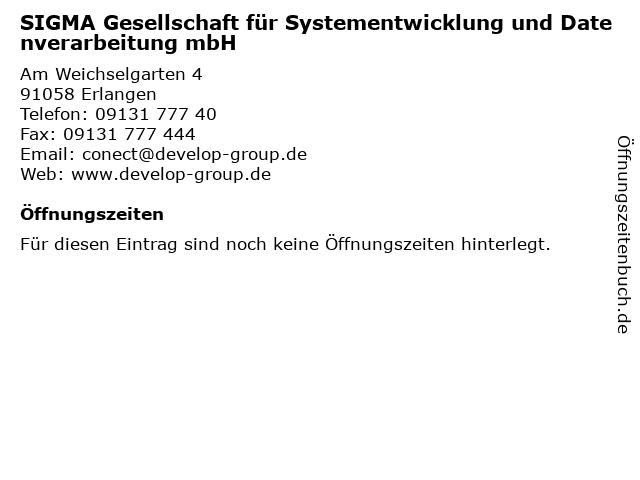 SIGMA Gesellschaft für Systementwicklung und Datenverarbeitung mbH in Erlangen: Adresse und Öffnungszeiten