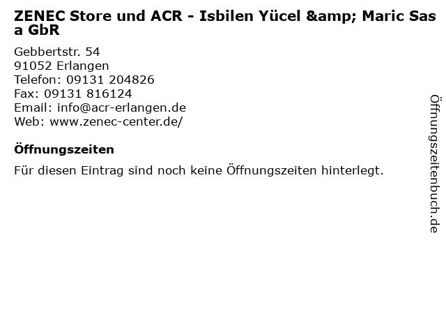 ZENEC Store und ACR - Isbilen Yücel & Maric Sasa GbR in Erlangen: Adresse und Öffnungszeiten
