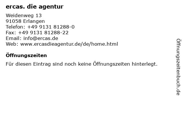 ercas. die agentur in Erlangen: Adresse und Öffnungszeiten