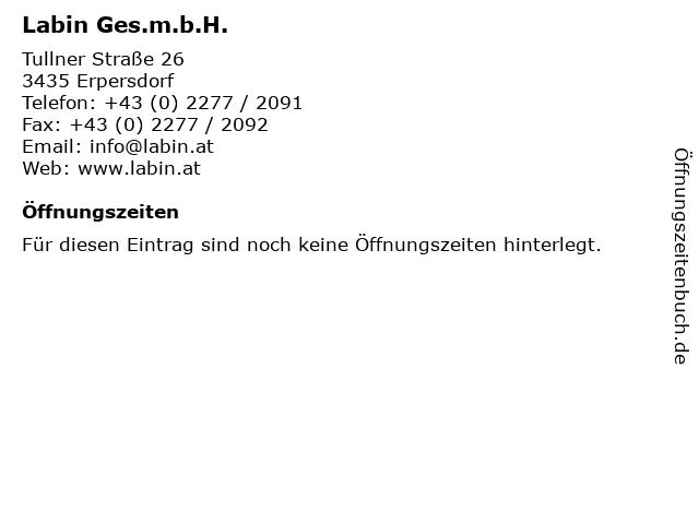 Labin Ges.m.b.H. in Erpersdorf: Adresse und Öffnungszeiten