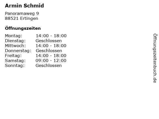 Armin Schmid in Ertingen: Adresse und Öffnungszeiten