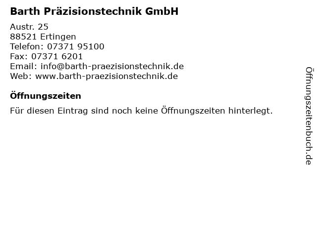 Barth Präzisionstechnik GmbH in Ertingen: Adresse und Öffnungszeiten