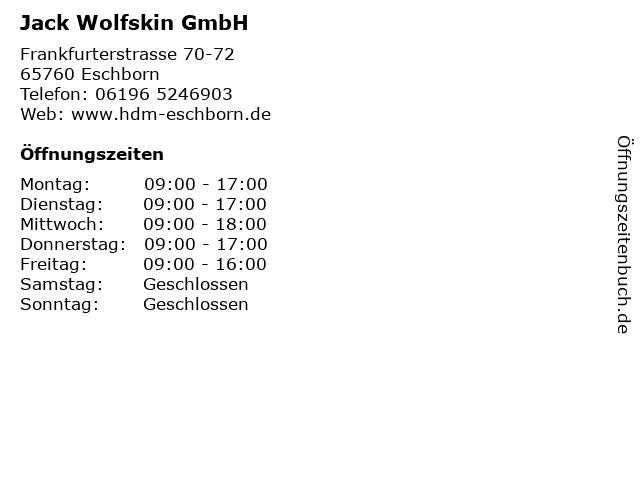 Jack Wolfskin GmbH in Eschborn: Adresse und Öffnungszeiten