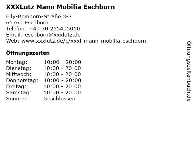 ᐅ öffnungszeiten Xxxlutz Mann Mobilia Eschborn Elly Beinhorn