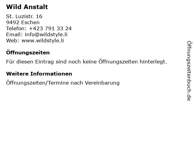 Wild Anstalt in Eschen: Adresse und Öffnungszeiten