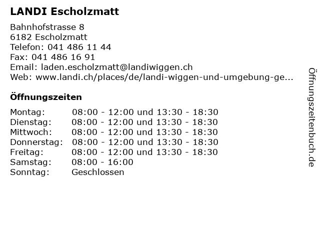 LANDI Escholzmatt in Escholzmatt: Adresse und Öffnungszeiten