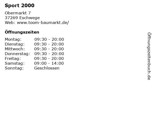 Sport 2000 in Eschwege: Adresse und Öffnungszeiten