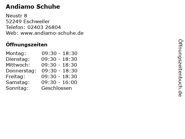 Andiamo Schuhe in Eschweiler: Adresse und Öffnungszeiten