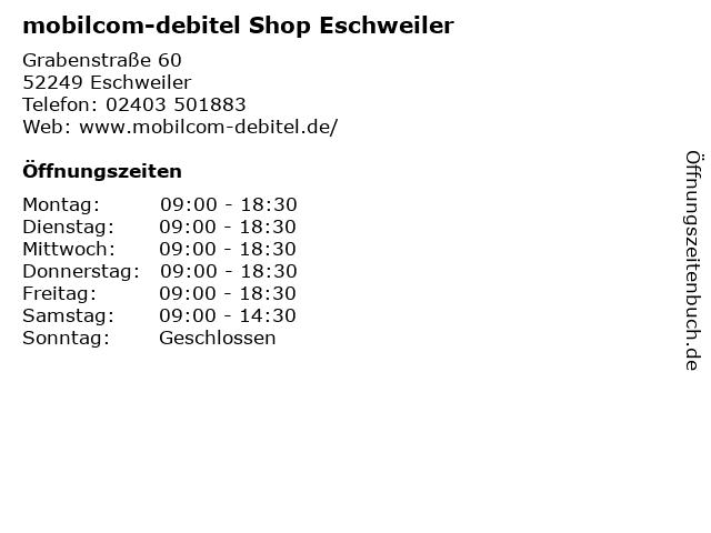 mobilcom-debitel Shop Eschweiler in Eschweiler: Adresse und Öffnungszeiten