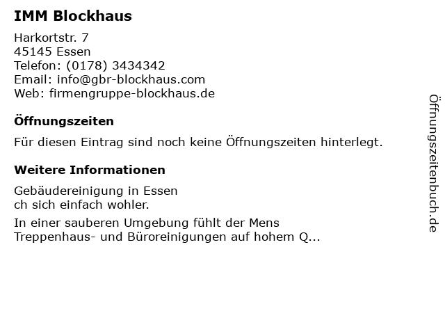 IMM Blockhaus in Essen, Ruhr: Adresse und Öffnungszeiten