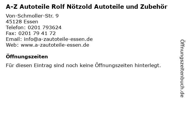 A-Z Autoteile Rolf Nötzold Autoteile und Zubehör in Essen: Adresse und Öffnungszeiten