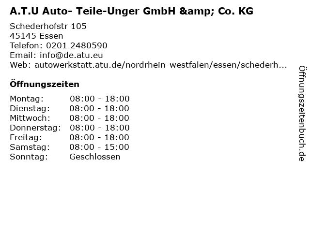 A.T.U Auto- Teile-Unger GmbH & Co. KG in Essen: Adresse und Öffnungszeiten