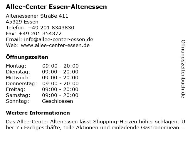Allee-Center Essen-Altenessen in Essen: Adresse und Öffnungszeiten