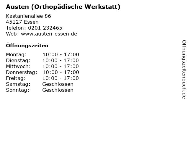 Austen (Orthopädische Werkstatt) in Essen: Adresse und Öffnungszeiten