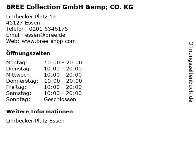 BREE Collection GmbH & CO. KG in Essen: Adresse und Öffnungszeiten