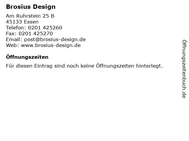 Brosius Design in Essen: Adresse und Öffnungszeiten