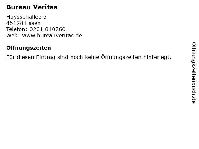 Bureau Veritas in Essen: Adresse und Öffnungszeiten