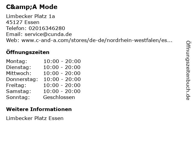 C&A Mode GmbH & Co. KG in Essen: Adresse und Öffnungszeiten