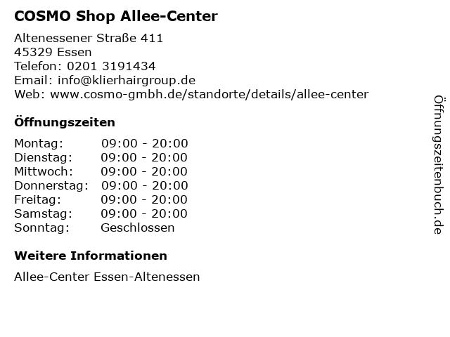 COSMO Shop Allee-Center in Essen: Adresse und Öffnungszeiten