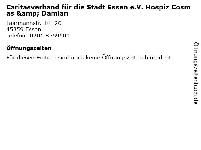 Caritasverband für die Stadt Essen e.V. Hospiz Cosmas & Damian in Essen: Adresse und Öffnungszeiten