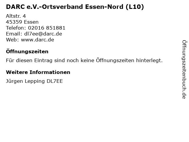 DARC e.V.-Ortsverband Essen-Nord (L10) in Essen: Adresse und Öffnungszeiten