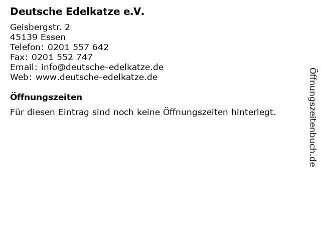 Deutsche Edelkatze e.V. in Essen: Adresse und Öffnungszeiten