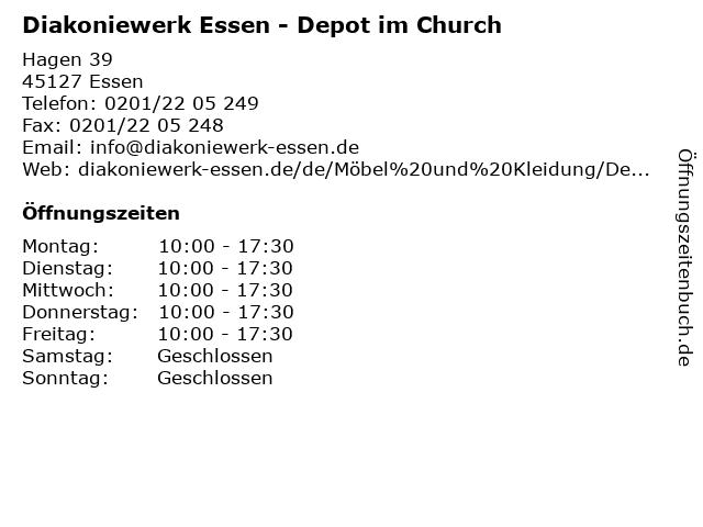 Diakoniewerk Essen - Depot im Church in Essen: Adresse und Öffnungszeiten
