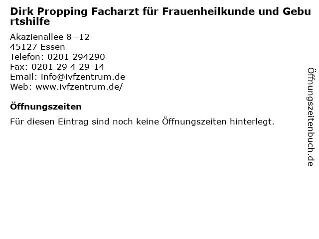 Dirk Propping Facharzt für Frauenheilkunde und Geburtshilfe in Essen: Adresse und Öffnungszeiten