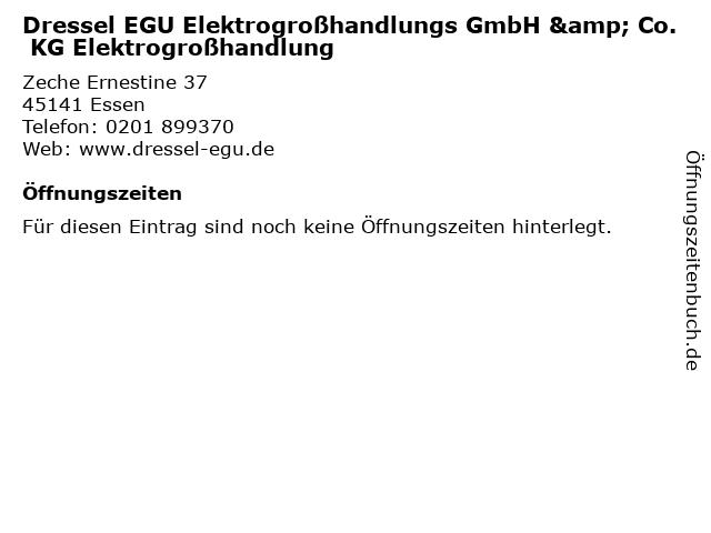 Dressel EGU Elektrogroßhandlungs GmbH & Co. KG Elektrogroßhandlung in Essen: Adresse und Öffnungszeiten