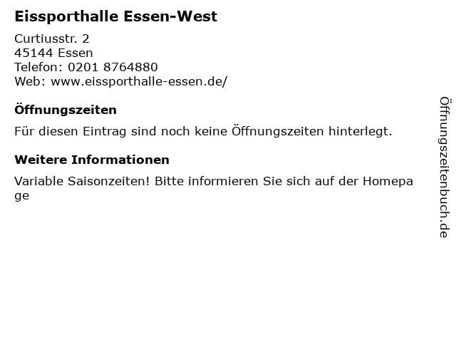 Eissporthalle Essen-West in Essen: Adresse und Öffnungszeiten