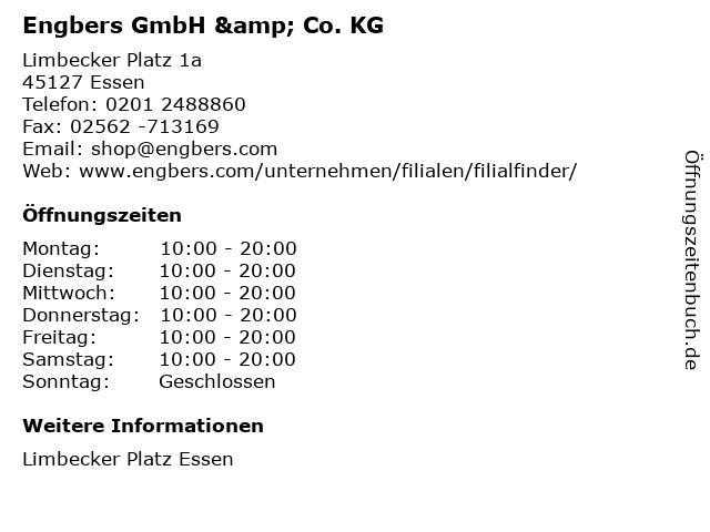 Engbers GmbH & Co. KG in Essen: Adresse und Öffnungszeiten
