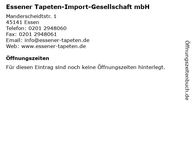 Essener Tapeten-Import-Gesellschaft mbH in Essen: Adresse und Öffnungszeiten