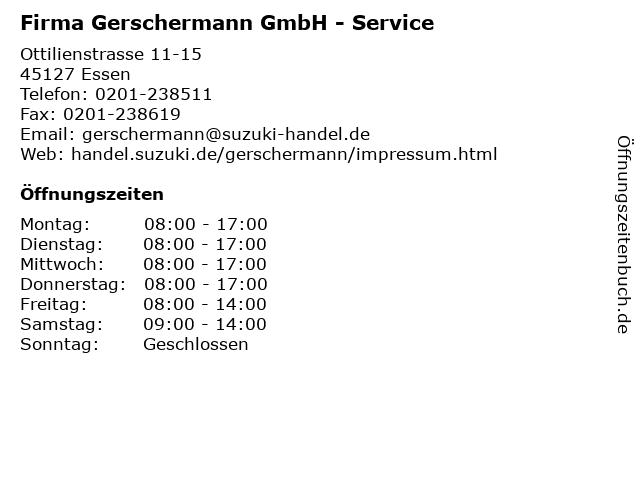 Firma Gerschermann GmbH - Service in Essen: Adresse und Öffnungszeiten