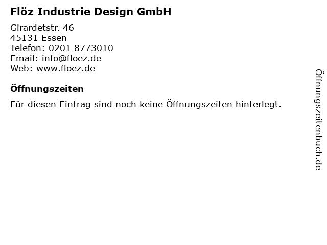 Flöz Industrie Design GmbH in Essen: Adresse und Öffnungszeiten