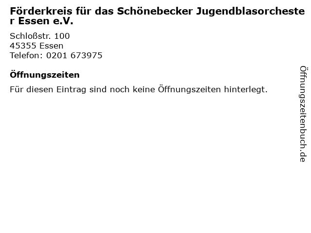 Förderkreis für das Schönebecker Jugendblasorchester Essen e.V. in Essen: Adresse und Öffnungszeiten