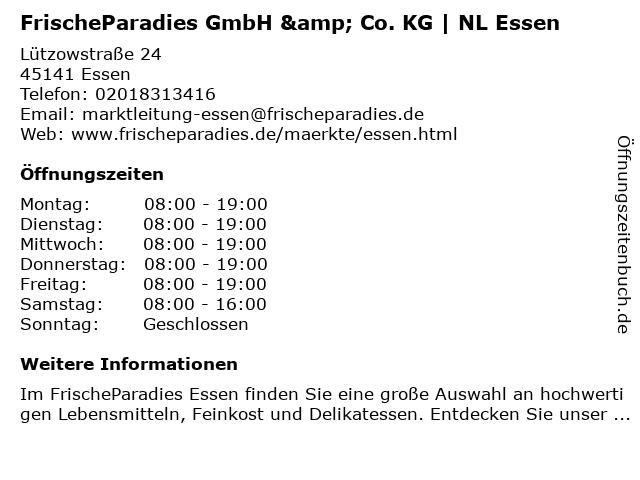 FrischeParadies GmbH & Co. KG   NL Essen in Essen: Adresse und Öffnungszeiten