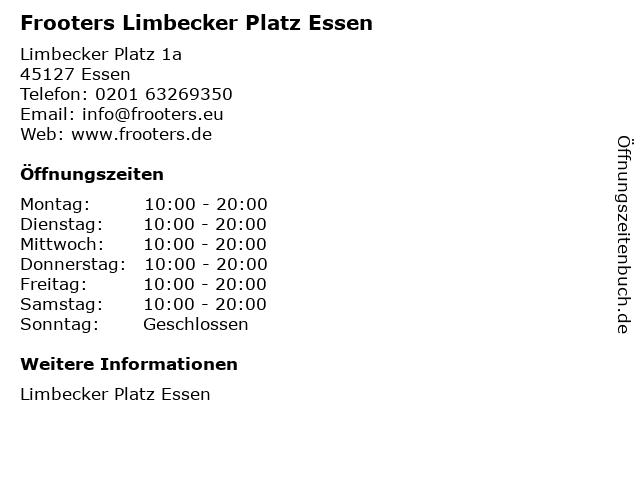 Frooters Limbecker Platz Essen in Essen: Adresse und Öffnungszeiten