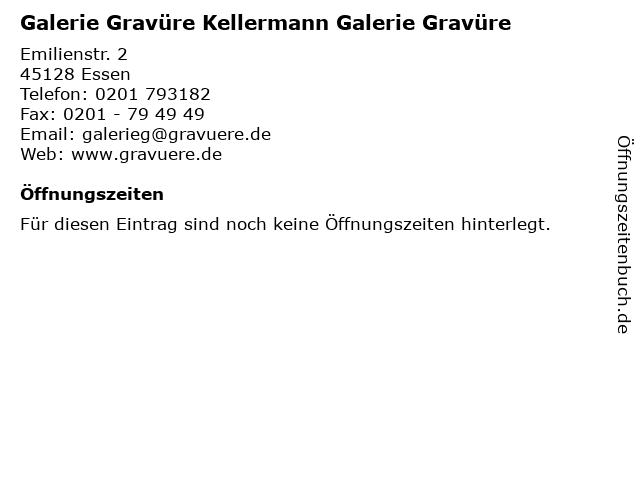 Galerie Gravüre Kellermann Galerie Gravüre in Essen: Adresse und Öffnungszeiten