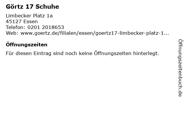 Görtz 17 Schuhe in Essen: Adresse und Öffnungszeiten
