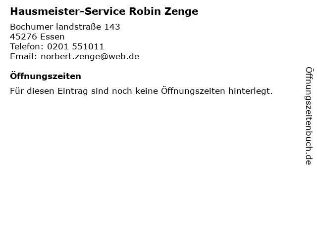Hausmeister-Service Robin Zenge in Essen: Adresse und Öffnungszeiten