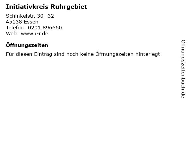 Initiativkreis Ruhrgebiet in Essen: Adresse und Öffnungszeiten