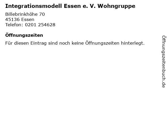 Integrationsmodell Essen e. V. Wohngruppe in Essen: Adresse und Öffnungszeiten