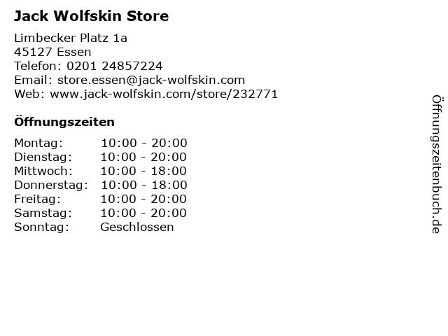 Jack Wolfskin Store in Essen: Adresse und Öffnungszeiten