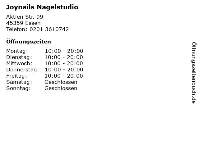 Joynails Nagelstudio in Essen: Adresse und Öffnungszeiten
