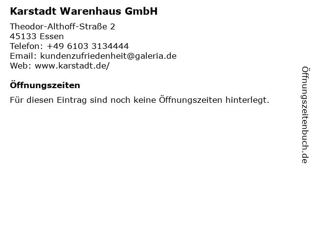 Karstadt Warenhaus GmbH in Essen: Adresse und Öffnungszeiten