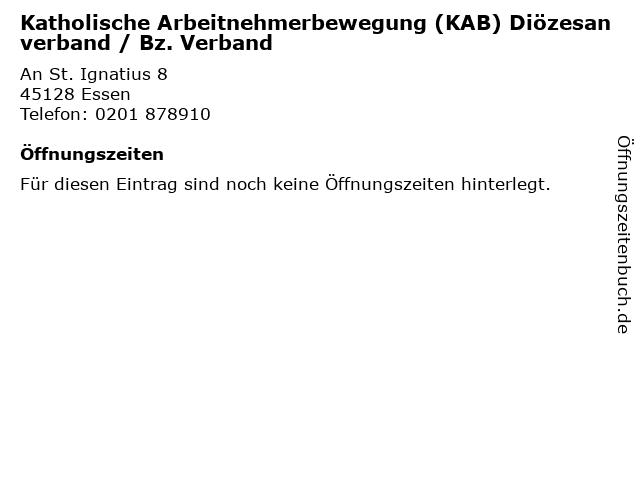 Katholische Arbeitnehmerbewegung (KAB) Diözesanverband / Bz. Verband in Essen: Adresse und Öffnungszeiten