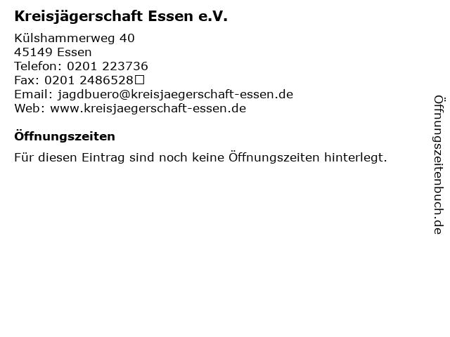 Kreisjägerschaft Essen e.V. in Essen: Adresse und Öffnungszeiten
